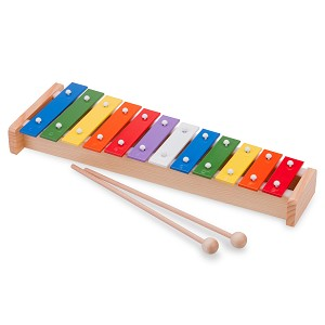 New Classic Toys - Metallophone (12 bars) with Music Book