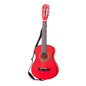 New Classic Toys - Guitar classic with guitarbag - red