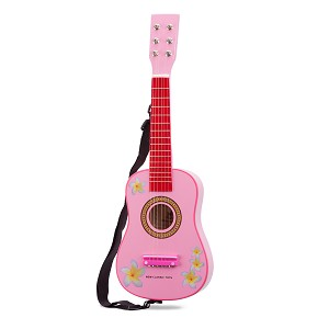 New Classic Toys - Guitar - Pink with Flowers
