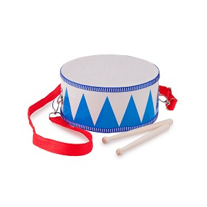 New Classic Toys - Wooden drum - blue/white