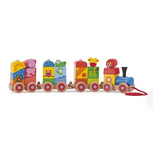 New Classic Toys - Stacking Train - Wild Animals