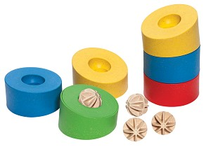 Anbac Toys - Stacking rings - Motoric Tower
