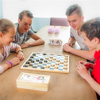 Longfield Games - Wooden Draughts in Box
