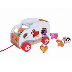 Lelin Toys - Sorter truck - farm animals
