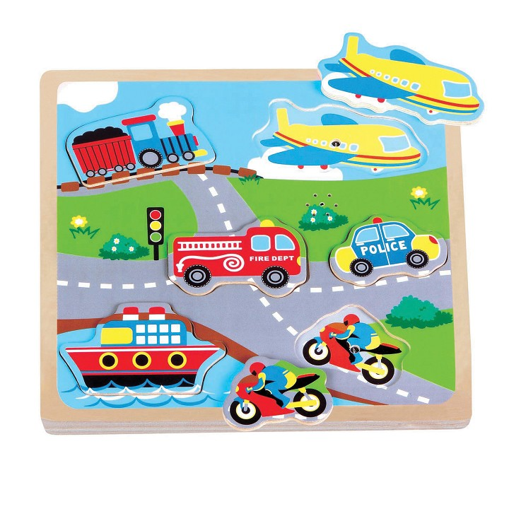 Lelin Toys - Transport Sound Puzzle