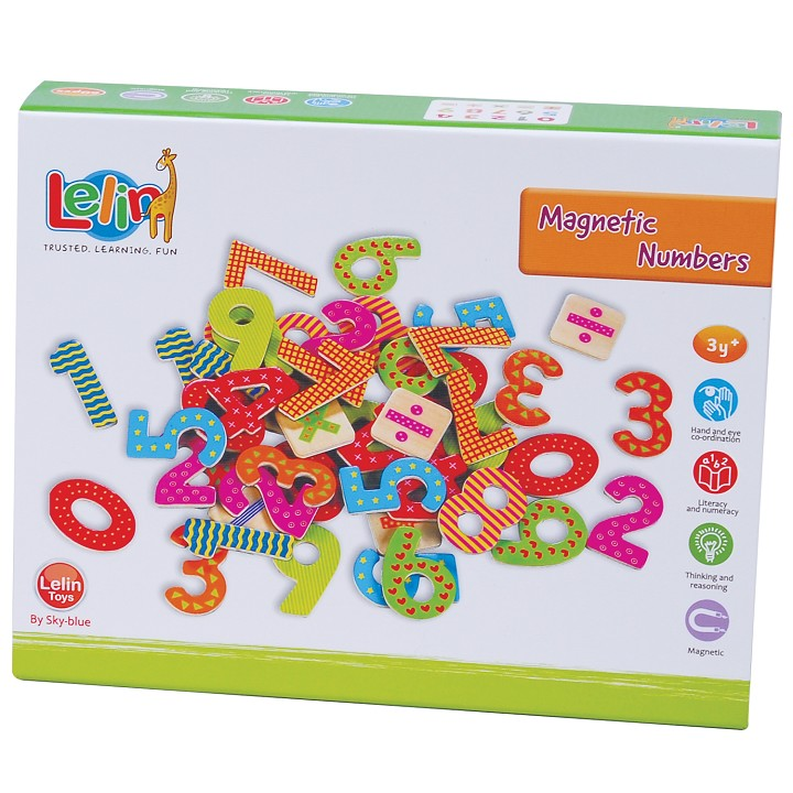 Lelin Toys - Magnetic Numbers - 60 pcs.