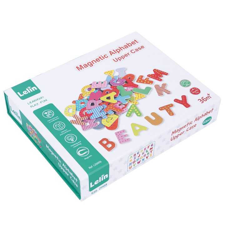Lelin Toys - Magnetic Alphabet - Upper Case - 60 pcs.