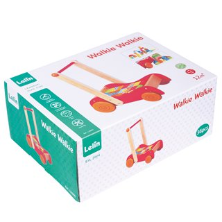 Lelin Toys - Baby Walker with Coloured Blocks - 30 pcs.