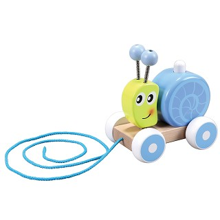 Lelin Toys - Pull Along - Squeaky Snail