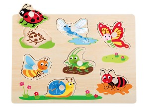 Lelin Toys - Peg Puzzle - Insect