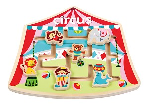 Lelin Toys - Puzzle labyrinth - circus - available June 2017