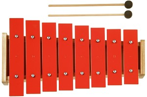 New Classic Toys - Metallophone -  uni coloured - 8 red notes