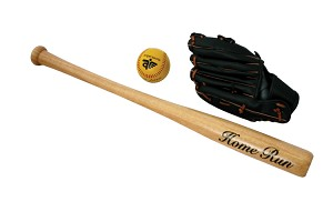 Angelsports - Baseballset - Glove, Bat and Ball