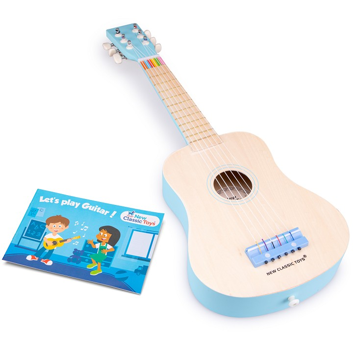 New Classic Toys - Guitar de Luxe - Naturel/Blue