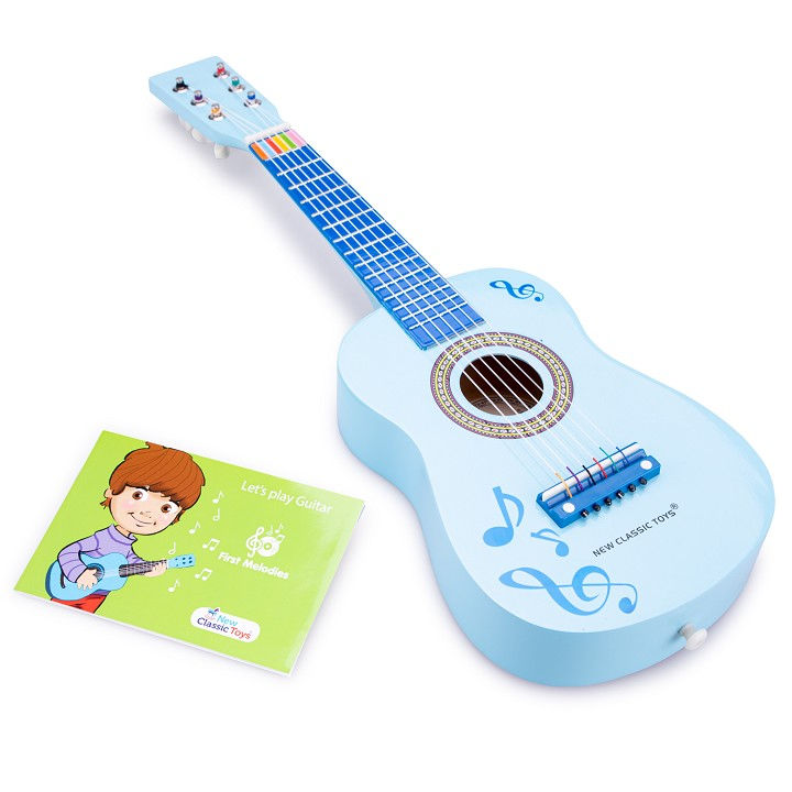 New Classic Toys - Guitar - Blue with Music Notes