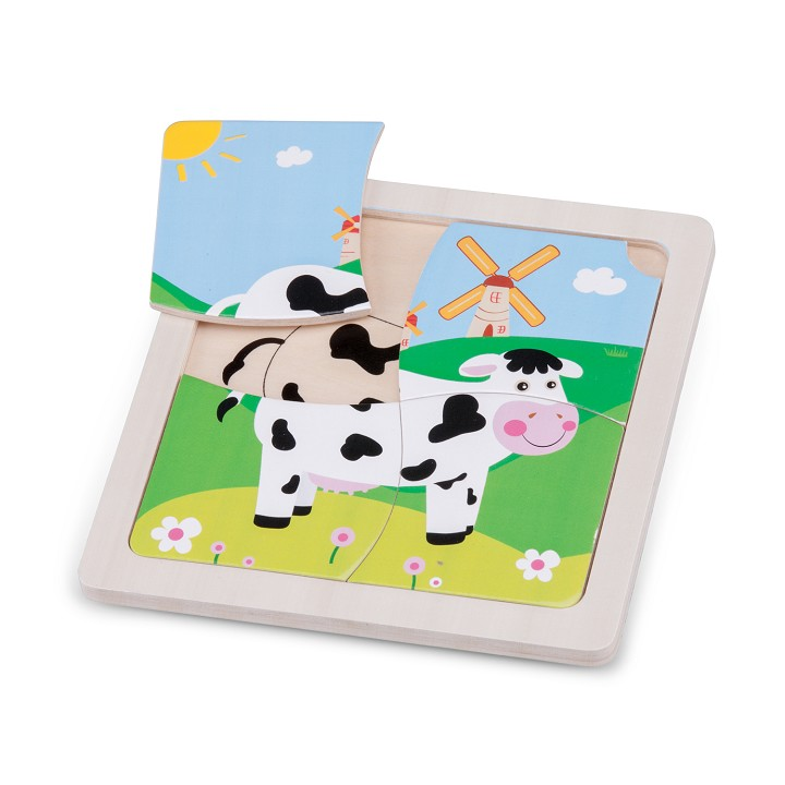 New Classic Toys - Mini Puzzle - Cow