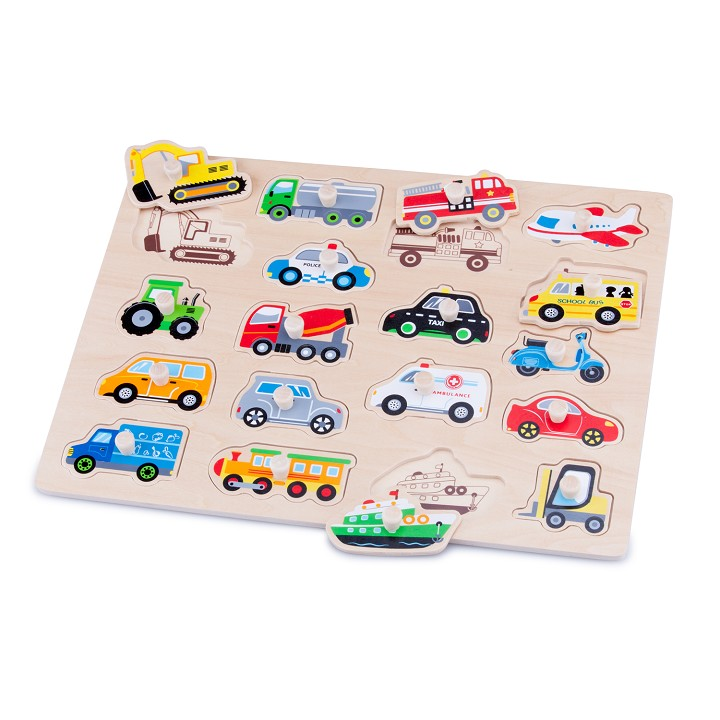 New Classic Toys - Peg Puzzle - Vehicles