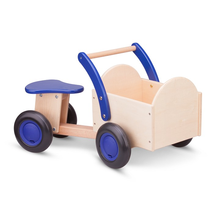 New Classic Toys - Carrier Bike - Natural/Blue