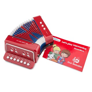 New Classic Toys - Accordion Red with Music Book