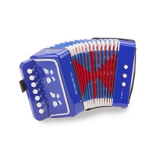 New Classic Toys - Accordion Blue with Music Book