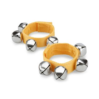 New Classic Toys -  Wrist Bells with Velcro Strap Yellow - Pair
