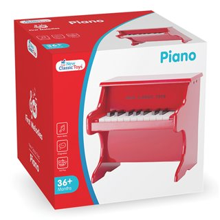 New Classic Toys - Piano Red -18 keys