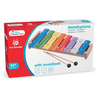 New Classic Toys - Metallophone (8 bars) with Music Book