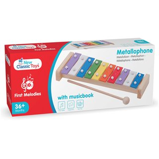 New Classic Toys - Metallophone with music book (10 bars)