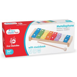 New Classic Toys - Metallophone with musicbook (8 bars)