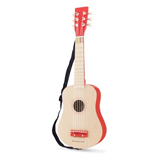 New Classic Toys - Guitar de Luxe - Naturel/Red