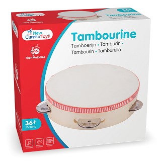 New Classic Toys - Tambourine 4 prs. Jingle