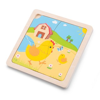 New Classic Toys - Mini Puzzle - Chicken