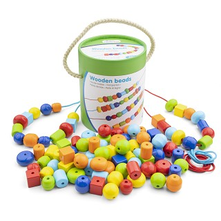 New Classic Toys - Wooden Beads - 96pcs.