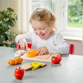 New Classic Toys - Cutting Meal - Breakfast - 10 pieces