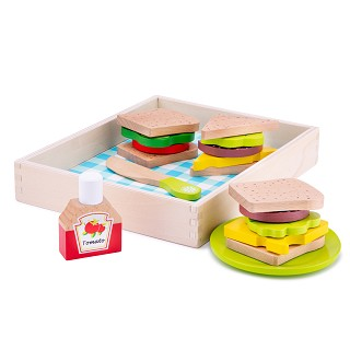 New Classic Toys - Cutting Meal - Lunch-Picnic - Box 18 pieces