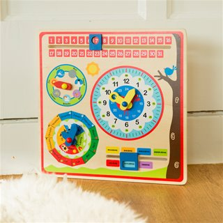 New Classic Toys - Calendar Clock - only available in the Dutch language