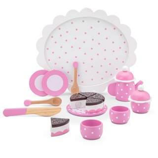 New Classic Toys - Coffee/Tea Set with Cutting Cake
