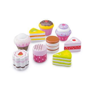 New Classic Toys - Cake/Pastry Assortment in Giftbox - 9 pieces
