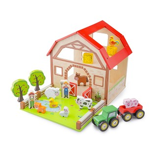 New Classic Toys - Wooden Farm House Playset