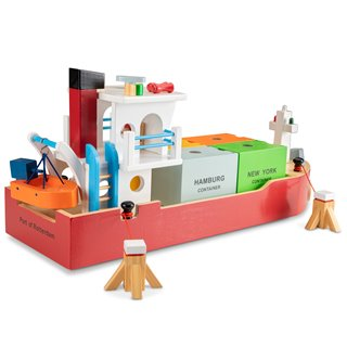 New Classic Toys - Container Ship with 4 containers