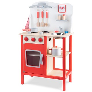 New Classic Toys - Kitchenette - Bon Appetit - Red