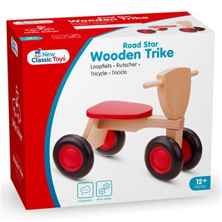 New Classic Toys - Wooden Trike - Road Star - Red