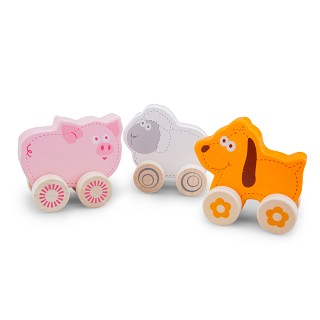 New Classic Toys - Wheelie Farm Animals