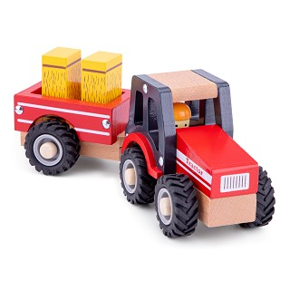 New Classic Toys - Tractor with Trailer - Hay Stacks