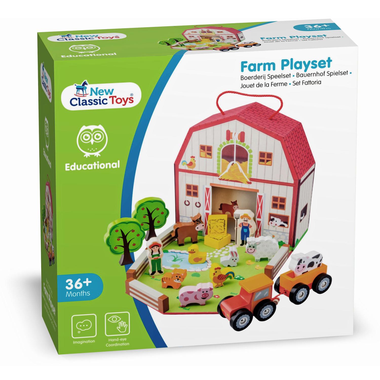 New Classic Toys Farm House Playset Music Playmat