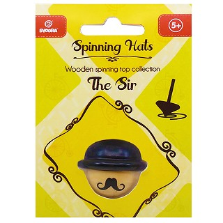 Svoora - Wooden top - the Sir - 6  spinning hats