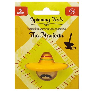 Svoora - Wooden top - the Mexican - 6  spinning hats