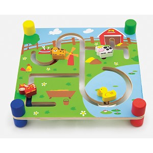 Viga Toys - Puzzle labyrinth - city and farm