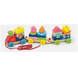 Viga Toys - Pull Along Stacking Train