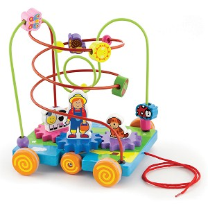 Viga Toys - Wire bead maze - activity - farm